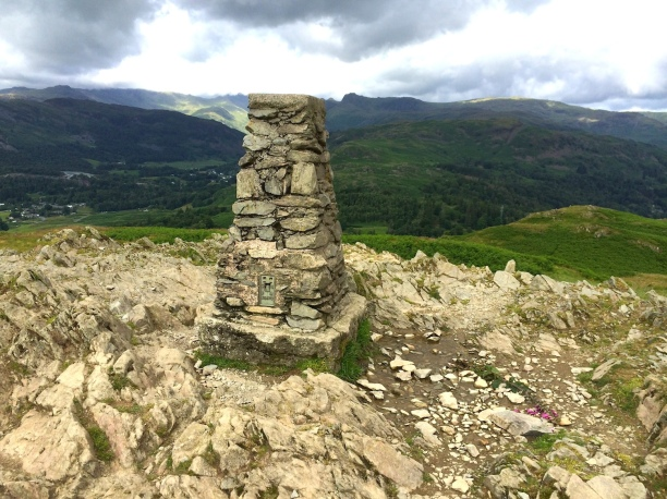 The summit of Loughrigg Fell.