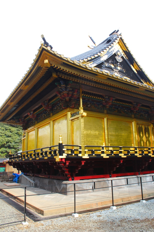 Back view of the Main Shrine in Tosho-gu.