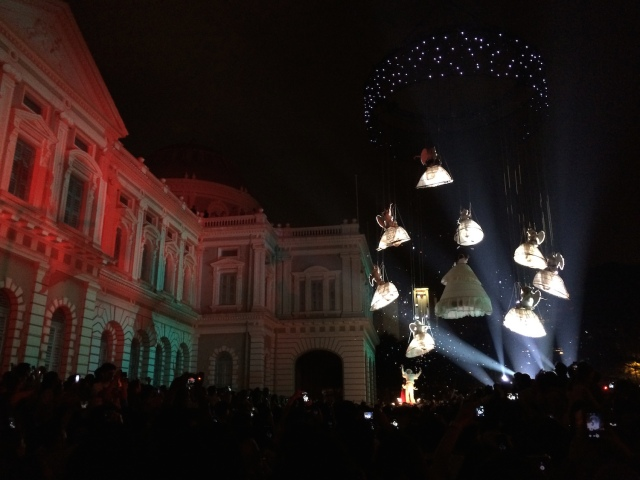 """Garden of Angels"" by Theater Tol (Belgium), at the National Museum of Singapore."
