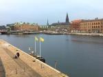 Contemplating the Copenhagen skyline.