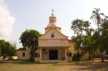 Holy Rosary Church, or the Goan Church, in Tharangambadi, beyond the walls of Tranquebar.