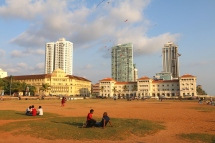 The Galle Face Hotel and Galle Face Court, on Galle Face Green.