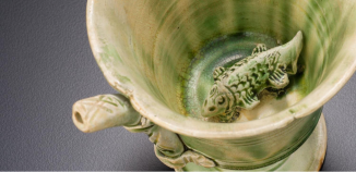 Green splash-ware from the Tang Shipwreck Collection.