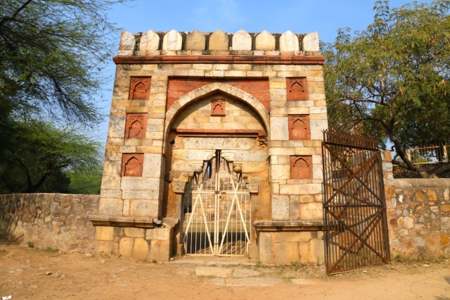 18 - Gate near entrance of Mehrauli Archaeological PArk