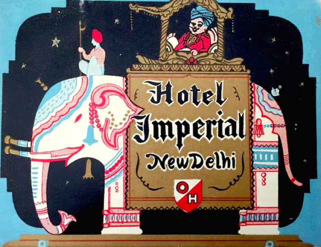 2 - Hotel Imperial Delhi Luggage Label