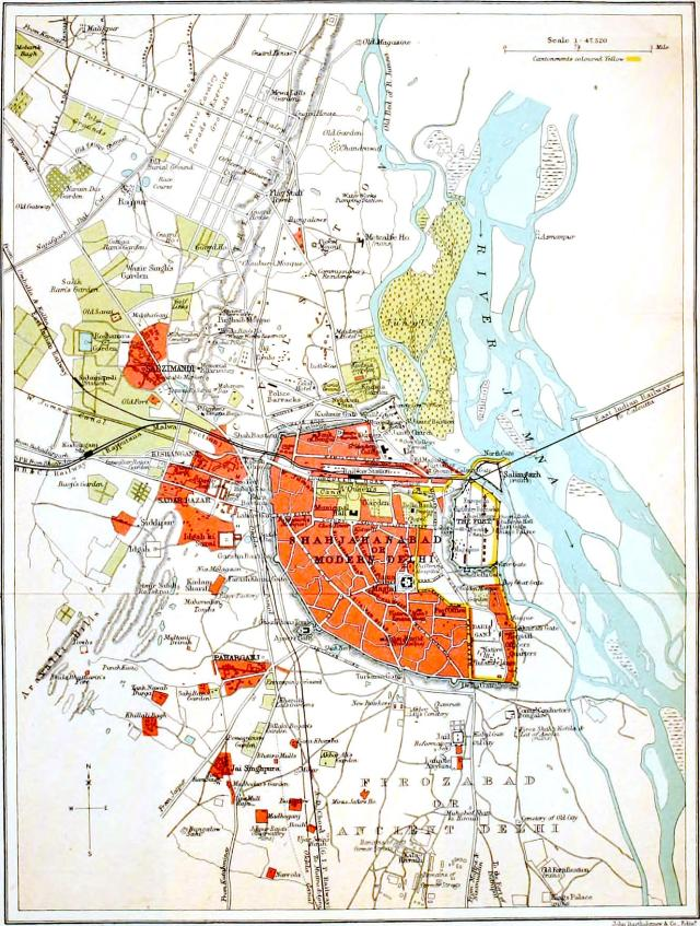 2 - Shahjahanabad_or_Modern_Delhi_1911_map