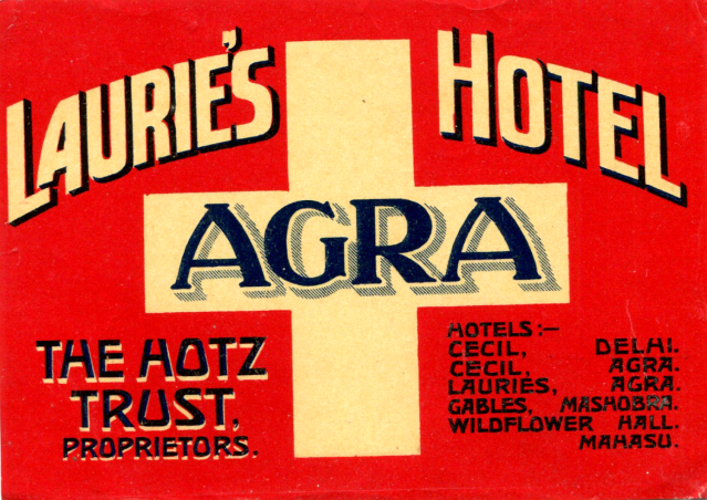 21 - Laurie's Hotel Luggage Label