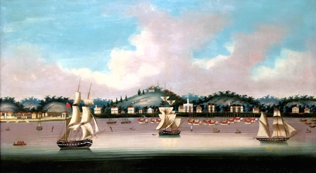 18 - Canton Trade Painting of Singapore ACM