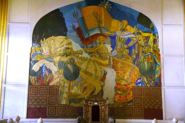 18 - Stefan Norblin - The Triumphant REturn of Rama Sita Lakshmana and Hanuman to Ayodhya from Lanka