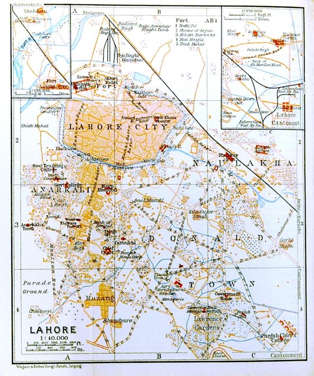 2 - Lahore_(Baedeker,_1914)