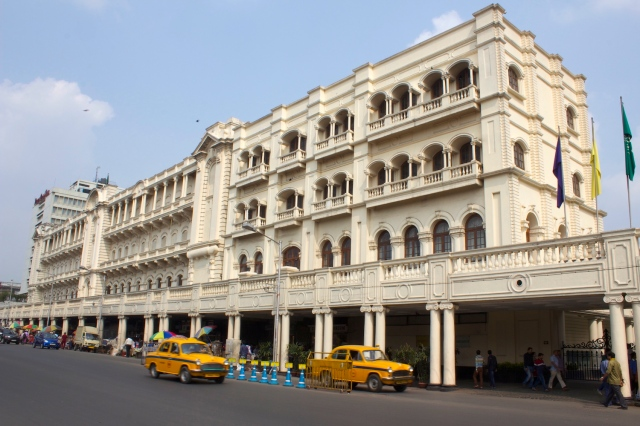 24 - Oberoi Grand Hotel exterior viewed along Chowringhee Road